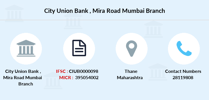City-union-bank Mira-road-mumbai branch