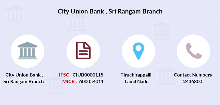 City-union-bank Sri-rangam branch