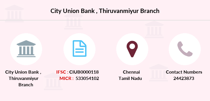City-union-bank Thiruvanmiyur branch