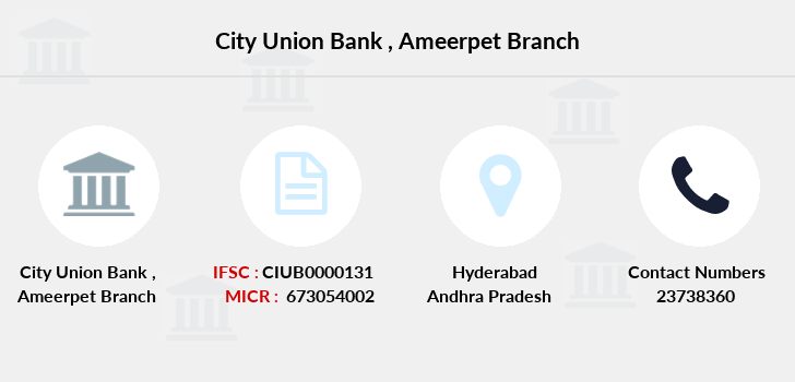 City-union-bank Ameerpet branch