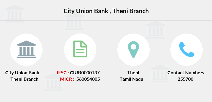 City-union-bank Theni branch