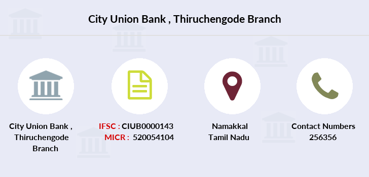 City-union-bank Thiruchengode branch
