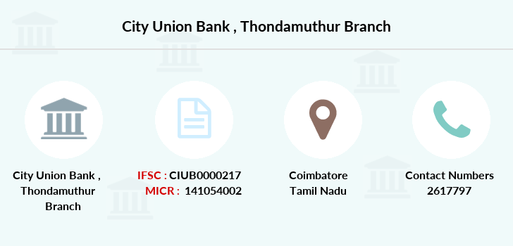 City-union-bank Thondamuthur branch