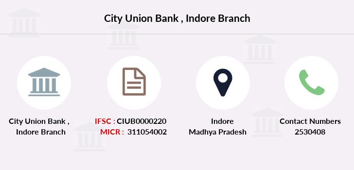 City-union-bank Indore branch