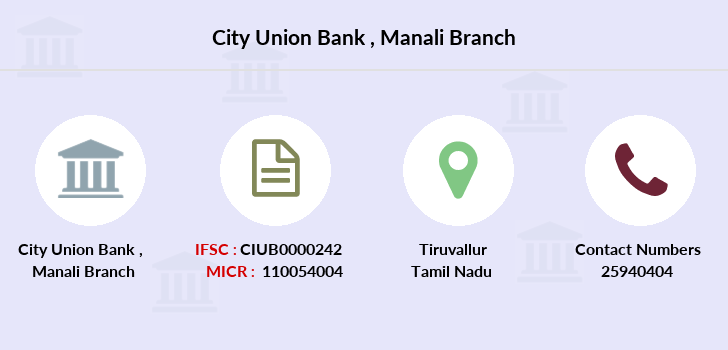 City-union-bank Manali branch