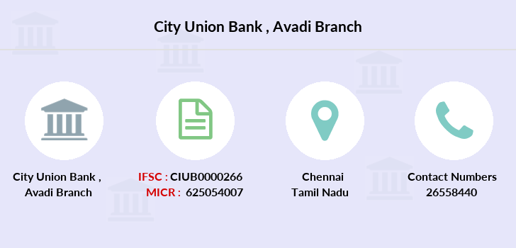 City-union-bank Avadi branch
