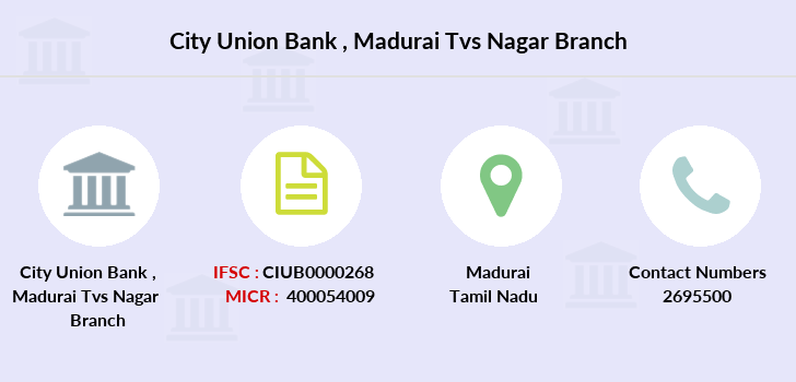 City-union-bank Madurai-tvs-nagar branch