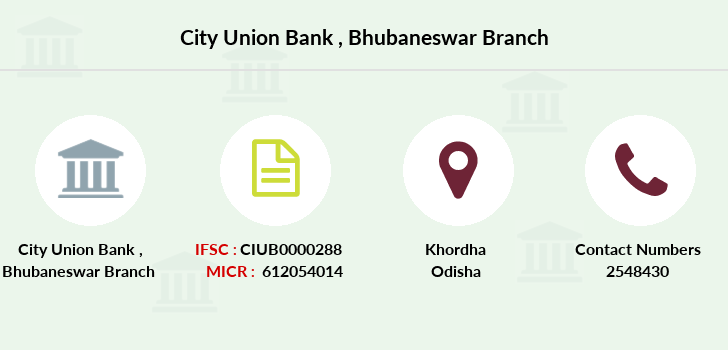 City-union-bank Bhubaneswar branch