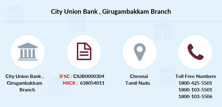 City-union-bank Girugambakkam branch