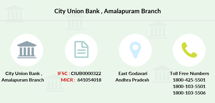 City-union-bank Amalapuram branch
