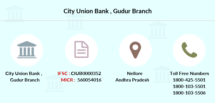 City-union-bank Gudur branch