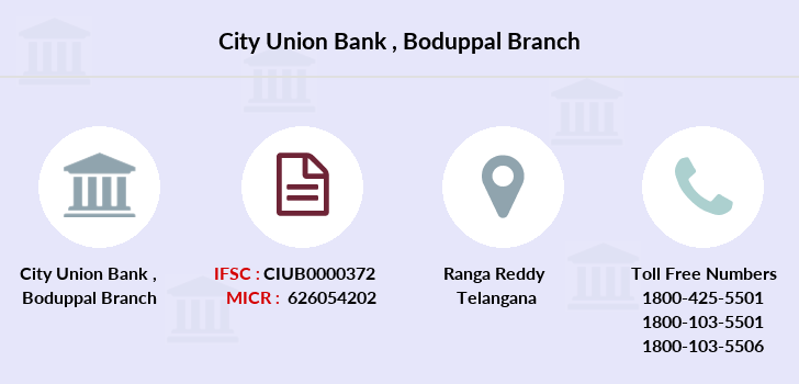 City-union-bank Boduppal branch