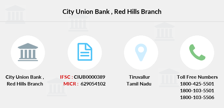 City-union-bank Red-hills branch