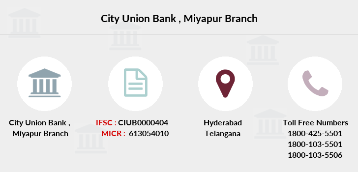 City-union-bank Miyapur branch
