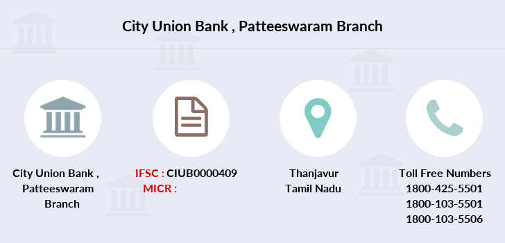 City-union-bank Patteeswaram branch