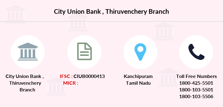 City-union-bank Thiruvenchery branch