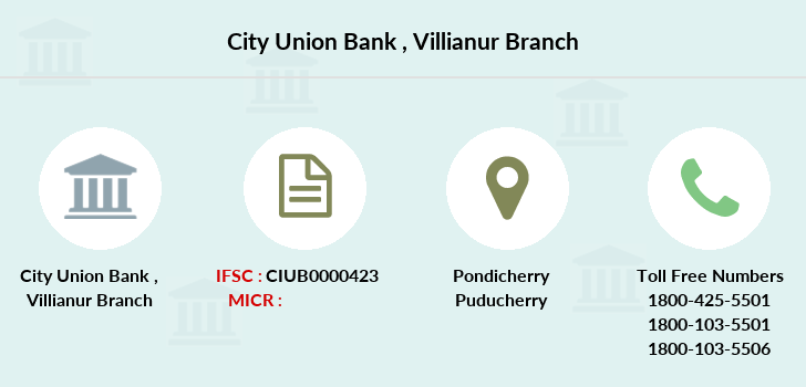 City-union-bank Villianur branch