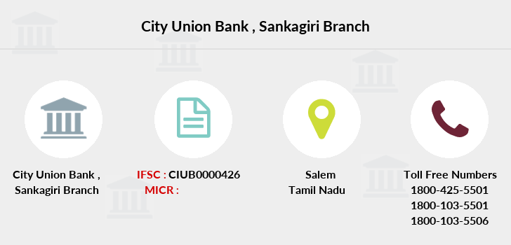 City-union-bank Sankagiri branch