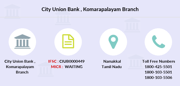 City-union-bank Komarapalayam branch
