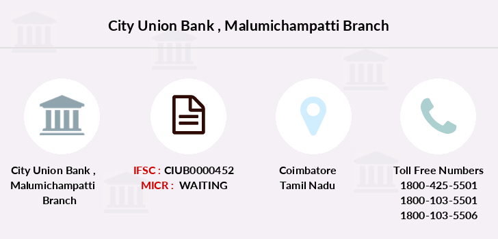 City-union-bank Malumichampatti branch