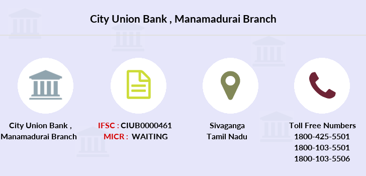 City-union-bank Manamadurai branch