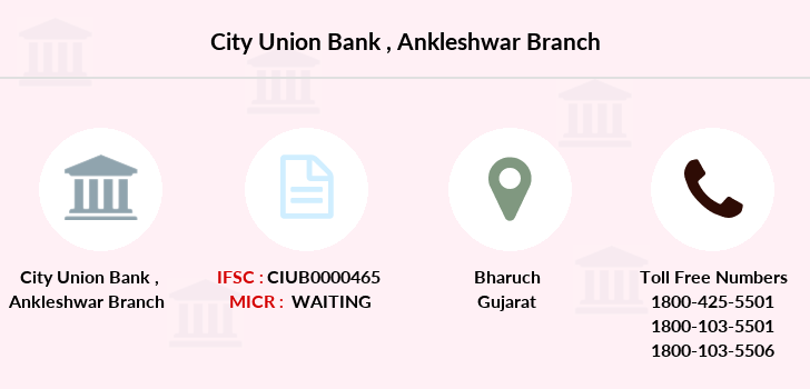 City-union-bank Ankleshwar branch