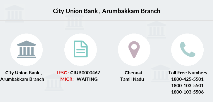 City-union-bank Arumbakkam branch