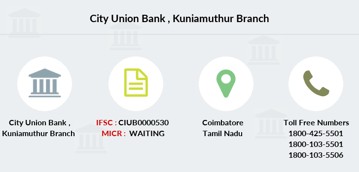 City-union-bank Kuniamuthur branch