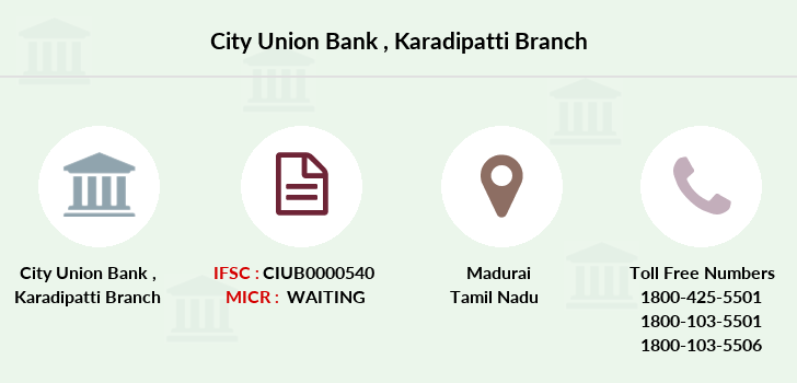 City-union-bank Karadipatti branch