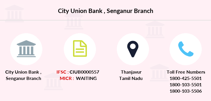 City-union-bank Senganur branch