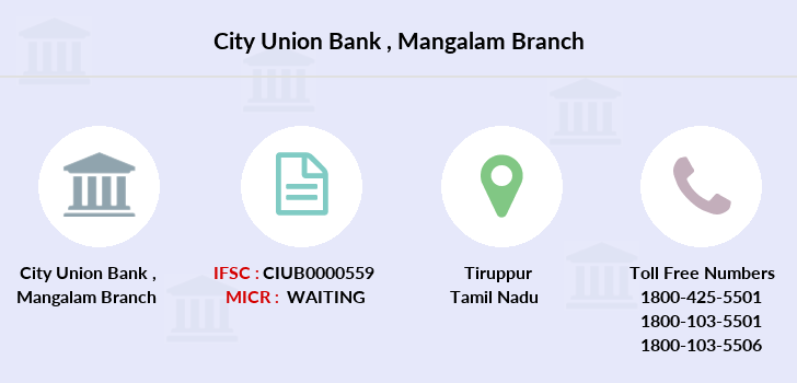 City-union-bank Mangalam branch