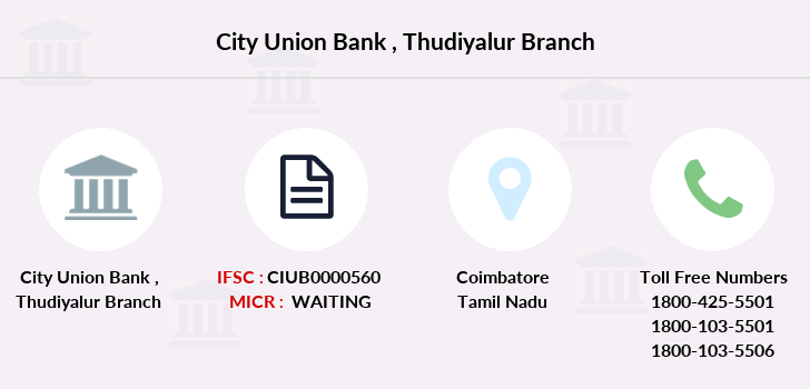 City-union-bank Thudiyalur branch