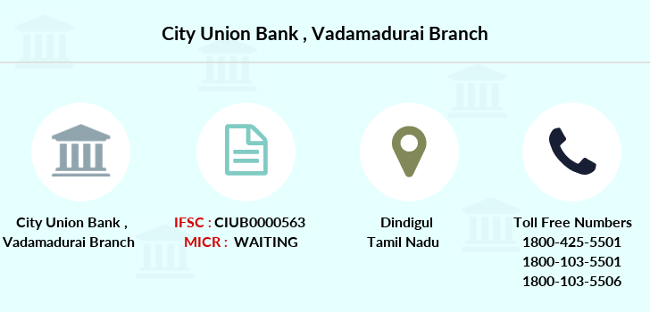 City-union-bank Vadamadurai branch