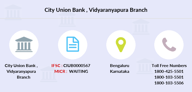 City-union-bank Vidyaranyapura branch
