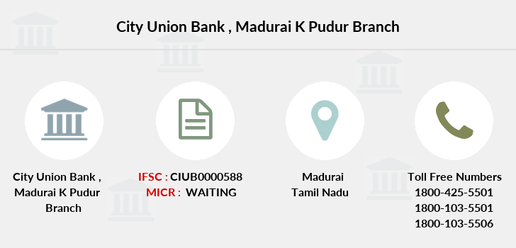 City-union-bank Madurai-k-pudur branch