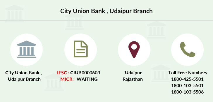 City-union-bank Udaipur branch