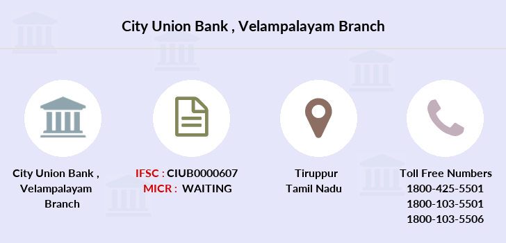 City-union-bank Velampalayam branch