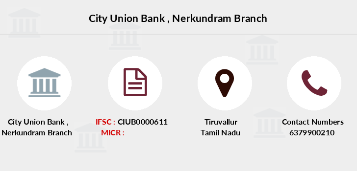 City-union-bank Nerkundram branch