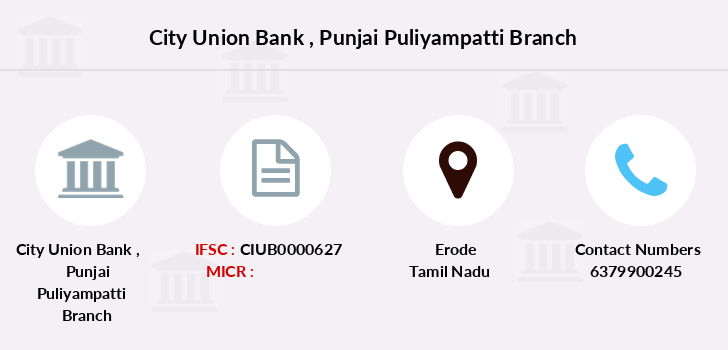 City-union-bank Punjai-puliyampatti branch
