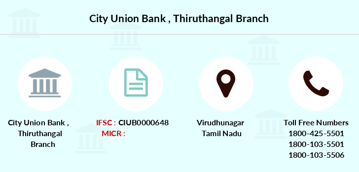 City-union-bank Thiruthangal branch
