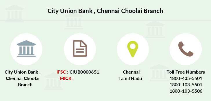 City-union-bank Chennai-choolai branch