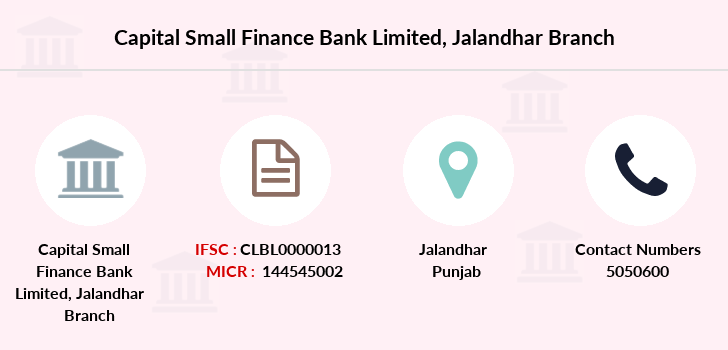 Capital-local-area-bank Jalandhar branch