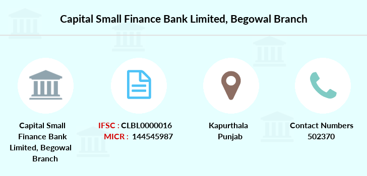 Capital-local-area-bank Begowal branch