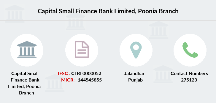 Capital-local-area-bank Poonia branch