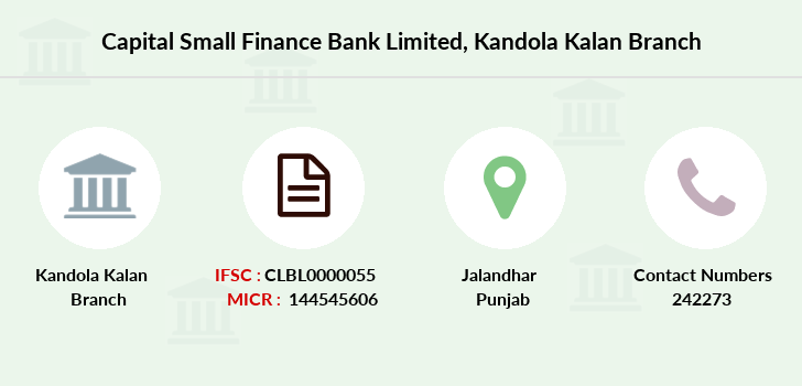 Capital-local-area-bank Kandola-kalan branch