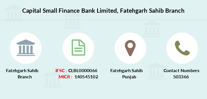 Capital-local-area-bank Fatehgarh-sahib branch