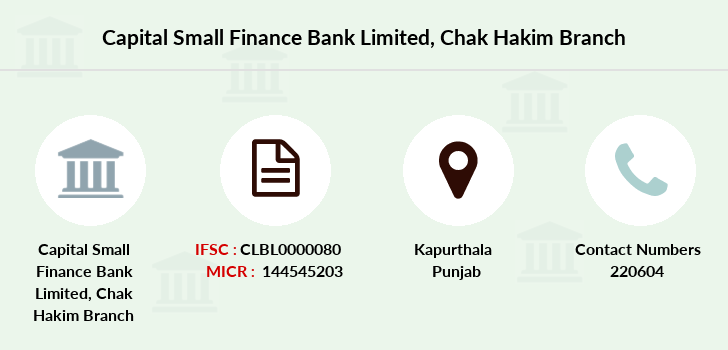 Capital-local-area-bank Chak-hakim branch