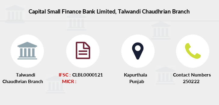 Capital-local-area-bank Talwandi-chaudhrian branch