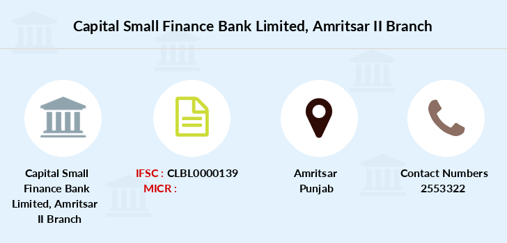Capital-local-area-bank Amritsar-ii branch