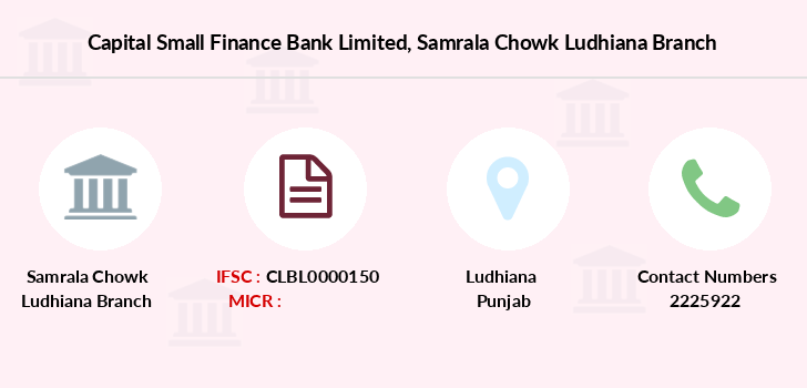 Capital-local-area-bank Samrala-chowk-ludhiana branch